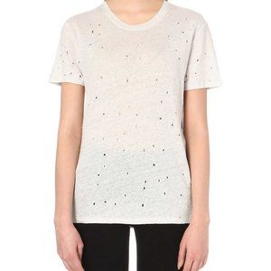 IRO French Natural Distressed Linen Tee Shirt